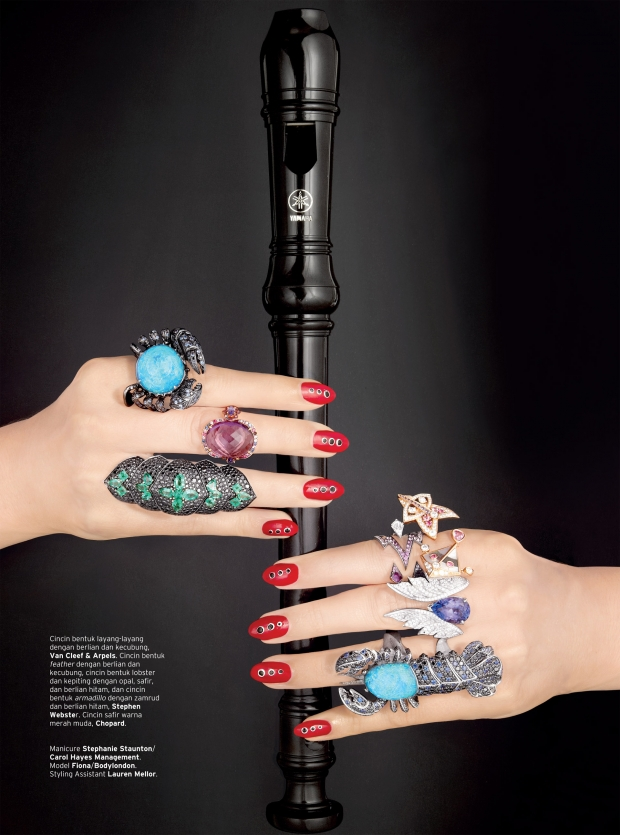 Nails by Stephanie Staunton for ELLE August issue - photography Turi ...